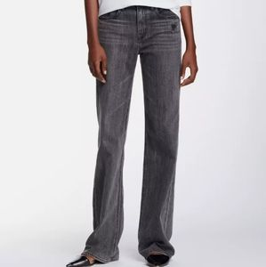 LIKE NEW, HELMUT LANG FLARE GRAY DISTRESSED JEANS